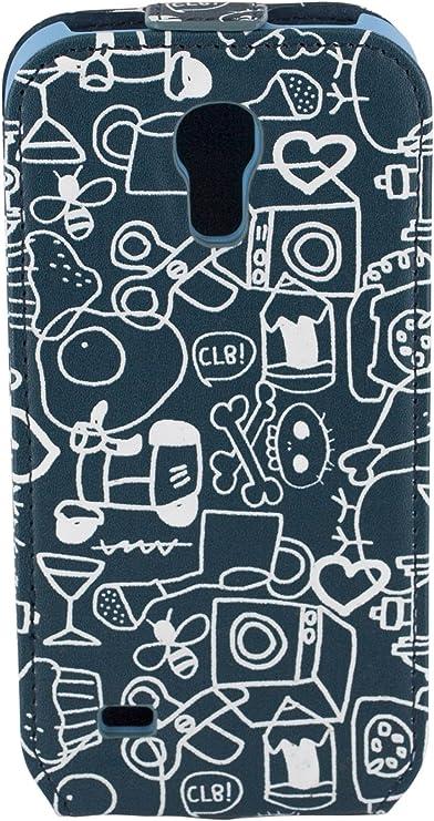 Cállate La Boca CBFM025 - Funda slim para Samsung Galaxy S4 Mini i9190, diseño collage, azul: Cállate la boca: Amazon.es: Electrónica