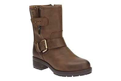 c49086e54 Clarks Women s Reunite Go GTX Biker Boots Size  42.5 D EU  Amazon.co ...