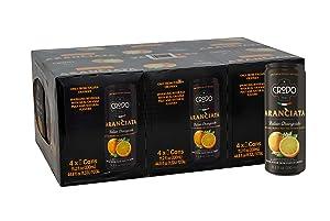 Fonti Di Crodo Aranciata, Italian Sparkling Orangeade, 11.2 Oz. Cans (Pack of 24)