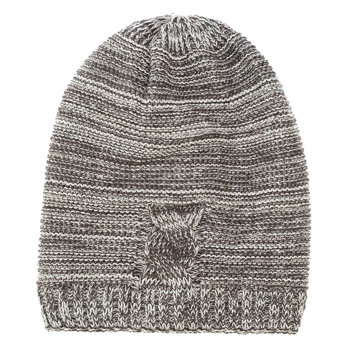 50213bf5fb34a9 Grey KAISHIN New Mens Fine Knit Hat Winter Winter Winter Outdoor Cap Fleece  Lined Beanie Hat Fashion Men Long Slouchy Hats 33d5e8
