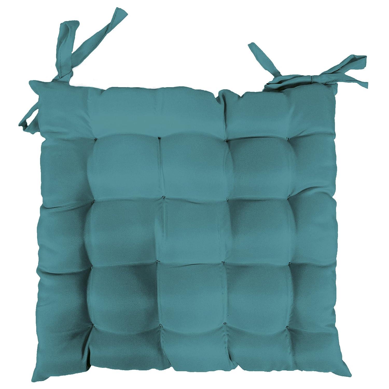 Beige natur Cuscino per sedia Douceur dInt/érieur in poliestere 40 x 40 cm