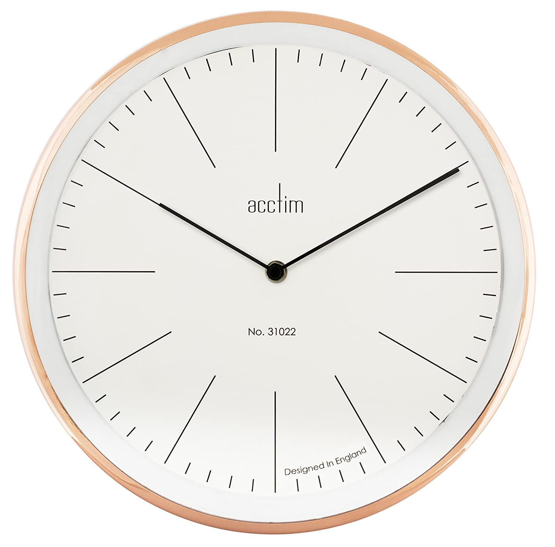 Acctim 27868 evo wall clock copper amazon kitchen home amipublicfo Choice Image