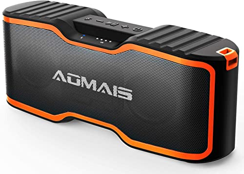 AOMAIS Sport II Bluetooth Speakers, Portable Outdoor Wireless Speaker, 30H Playtime, 20W HD Stereo Sound Richer Bass, IPX7 Waterproof, 100ft Bluetooth for Travel, Party, Beach 2019 Upgrade Version