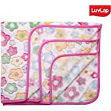 Luvlap Newborn Baby Soft Swaddling Blanket, Pink and White Flowers (80cm x 100cm)