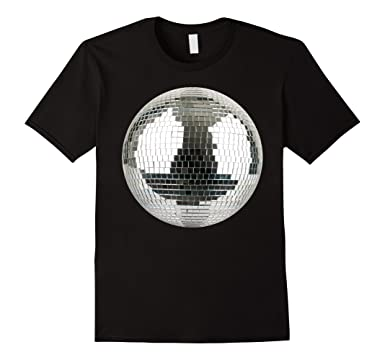 4c76a55fe Amazon.com: Disco Mirror Ball Funny T-Shirt: Clothing