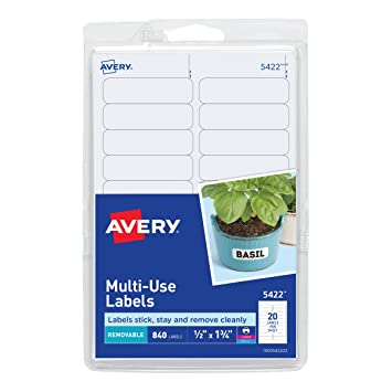 amazon co jp print or write removable multi use labels 1 2 x 1 3