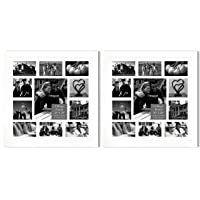 Studio 500, 2-Pack Set of 20 by 20-inch 100% Real Wood Collage Photo Frames, 100%...