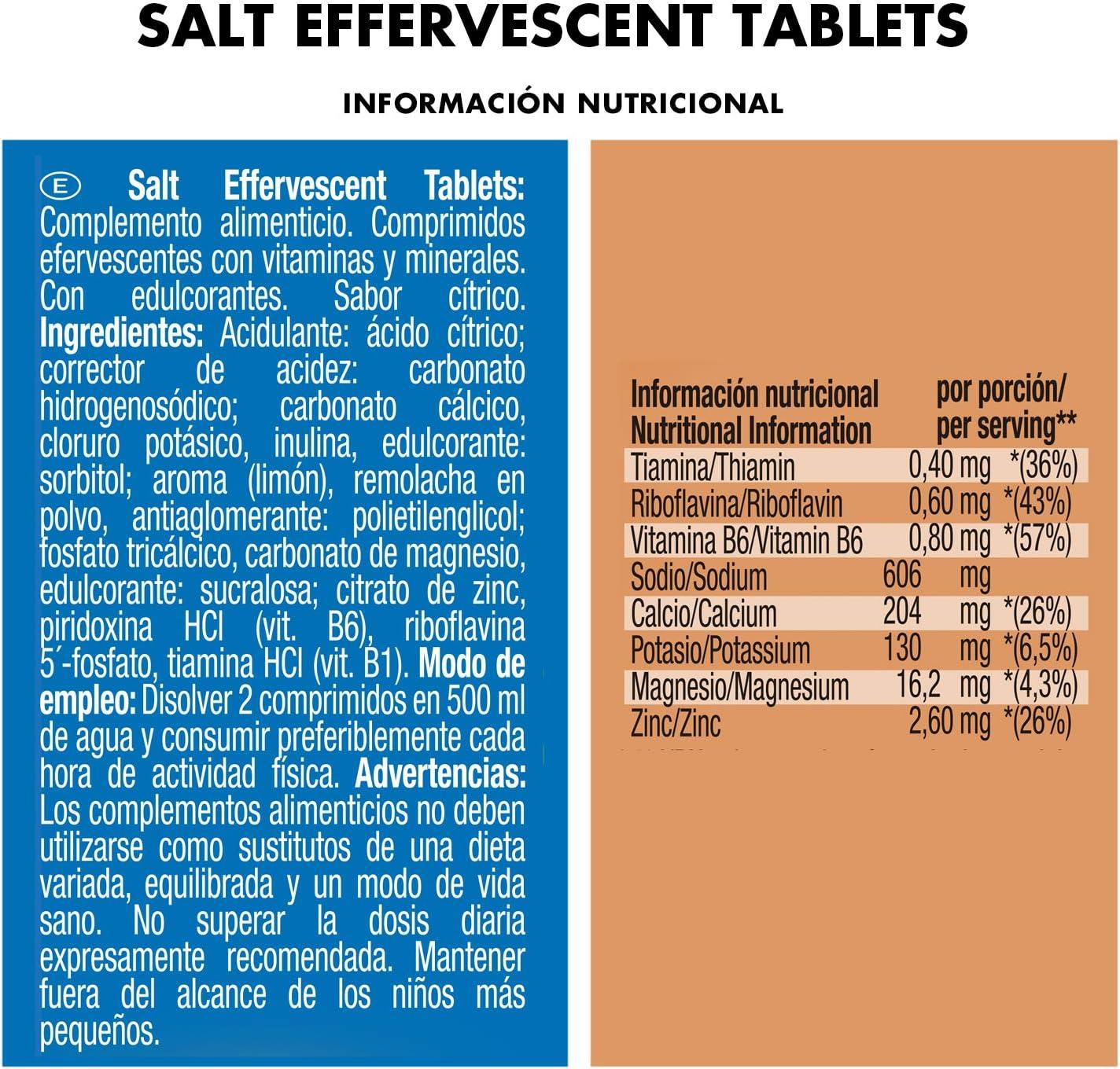 Victory Endurance Salt Effervescent Tabs 15 comprimidos por tubo. Con 5 electrolitos y 3 vitaminas ,Fácil disolución y sabor agradable, Apto para veganos, sin gluten, sin lactosa: Amazon.es: Salud y cuidado personal