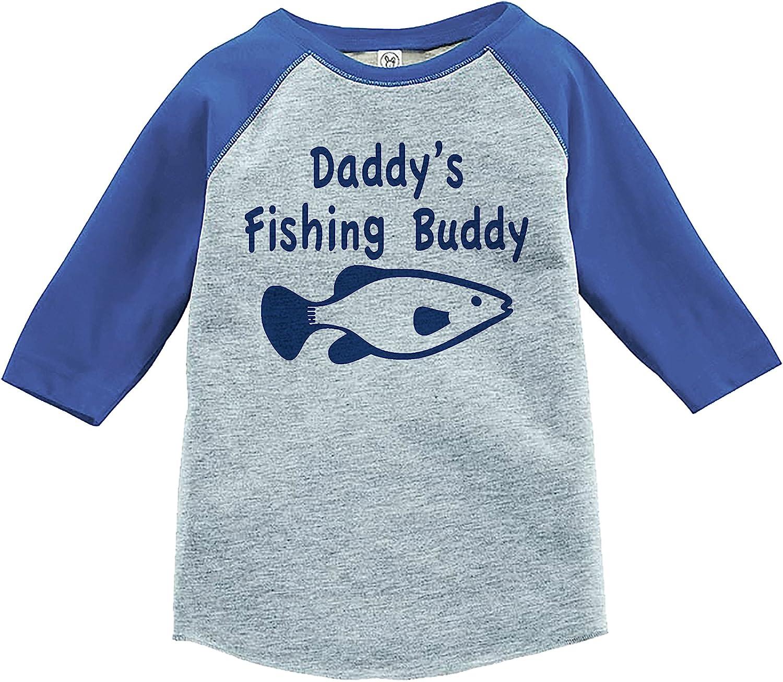 7 ate 9 Apparel Daddys Fishing Buddy Raglan Tee
