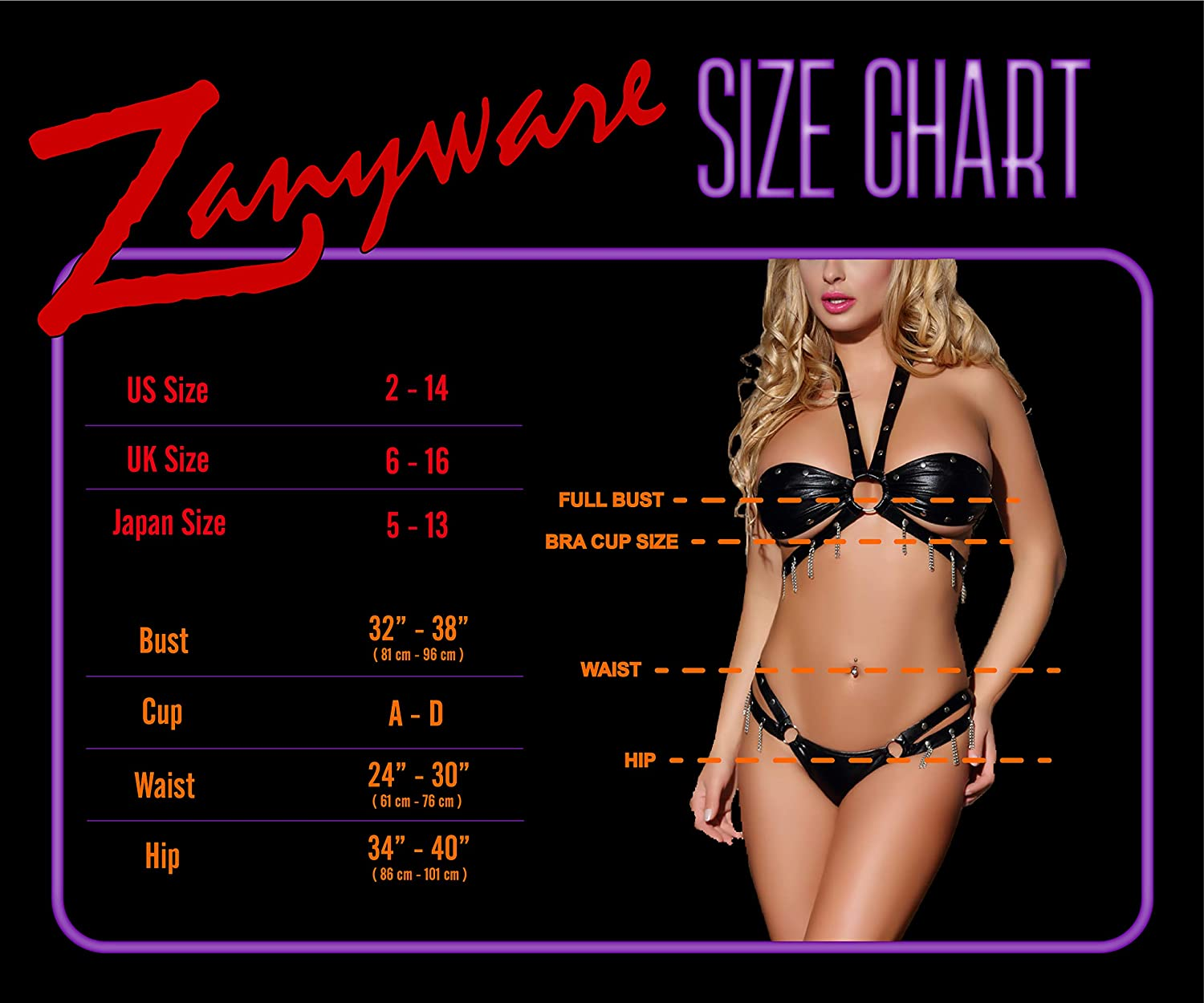 c8ac7d6d0 Amazon.com  Zanyware Womens 2Pcs Faux Leather Sexy Lingerie Babydoll   Clothing