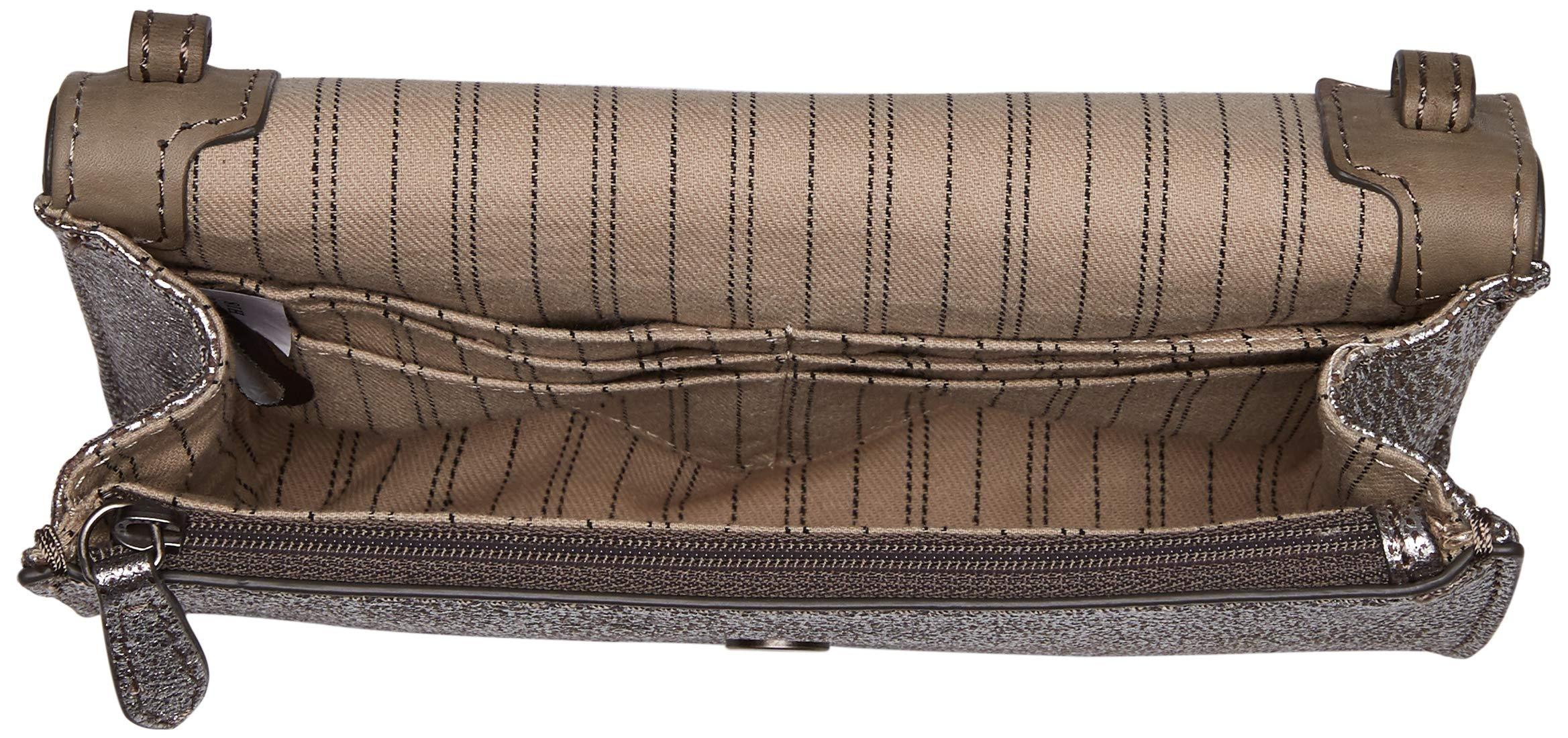 FRYE Melissa Wallet Crossbody Clutch Leather Bag, silver by FRYE (Image #5)