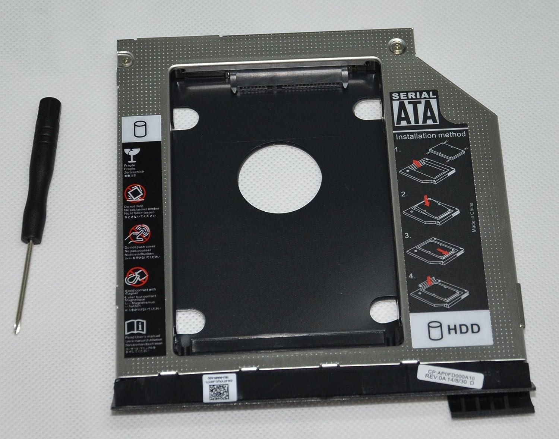 DY-tech 2nd HDD SSD Hard Drive Caddy Adapter for Dell Latitude E6320 E6420 E6520 E6330 E6430 E6530 Modular Bay with Ejector + Bezel/faceplate