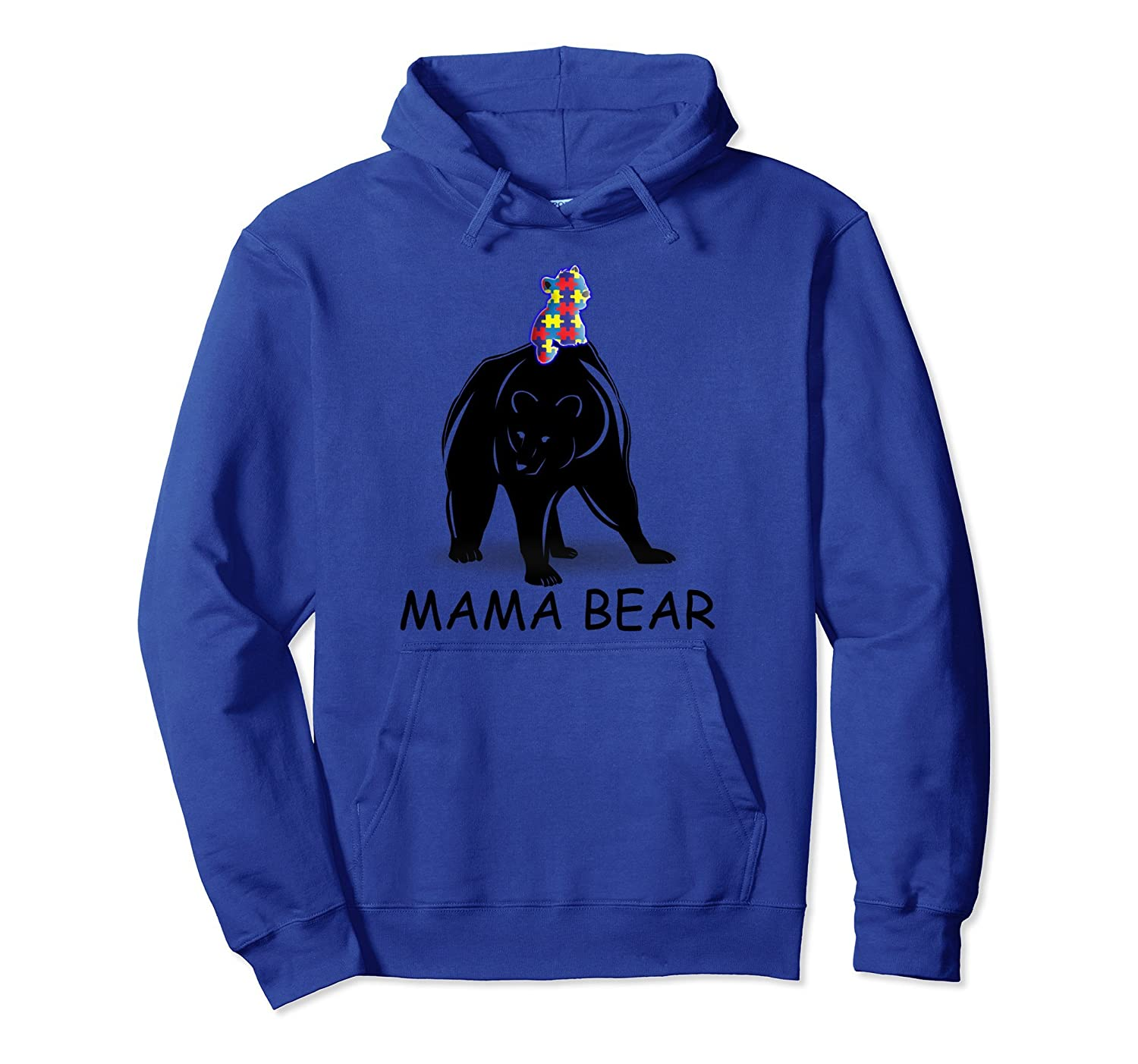 Autism Awareness Shirts - Mama Bear Pullover Hoodie Tee-TH