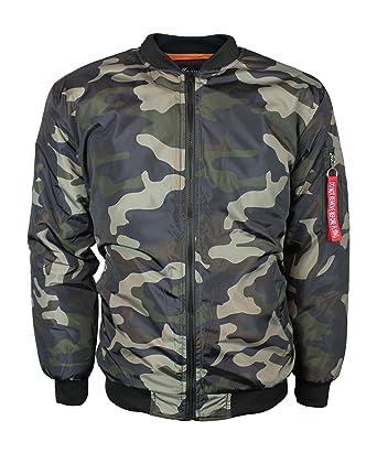354d35c04 New Men's Military Black Green Camo Army Flight Pilot Bomber Jacket ...