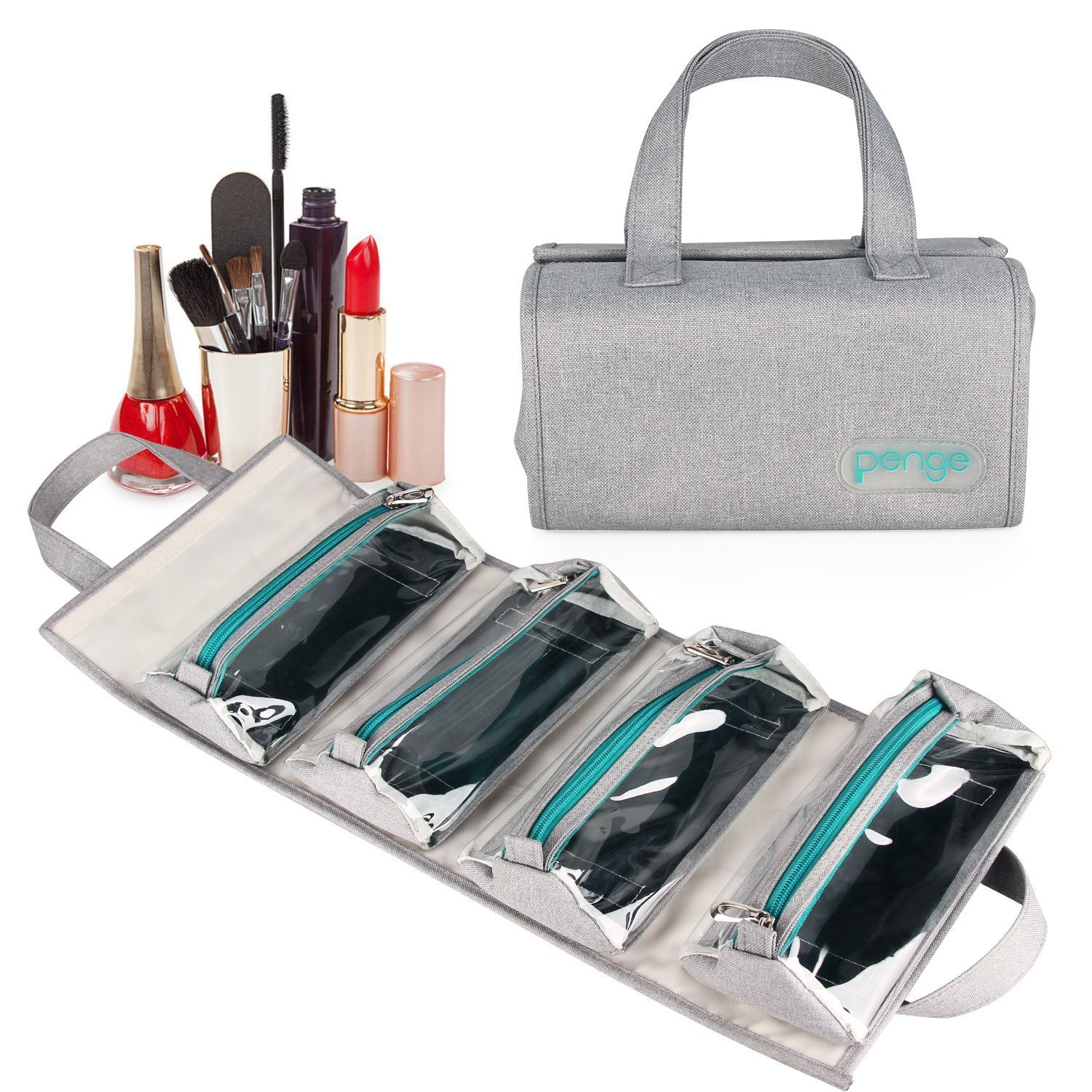 Roll-Up Organizer - Lifeasy Portable Multifunction Folding Travel Cosmetic Bag