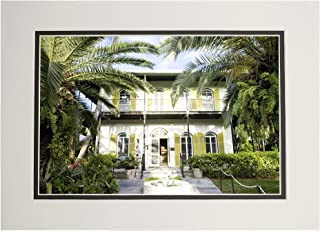 product image for Key West, Florida - Hemingway House - Photography A-93050 (11x14 Double-Matted Art Print, Wall Decor Ready to Frame)