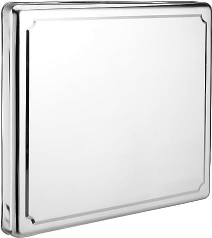 JOCCA 6414 - Protector de acero inoxidable para hornillo, plateado, 52.5 x 60.5 x 5.5 cm