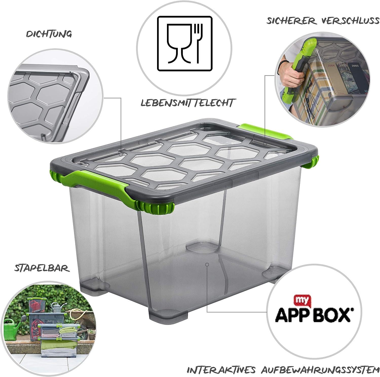 Amazon Com Rotho Evo Total Protection Storage Box With Lid 15 L