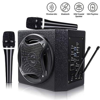 Amazoncom Tonor 50w Bluetooth Speaker With Wireless Microphone