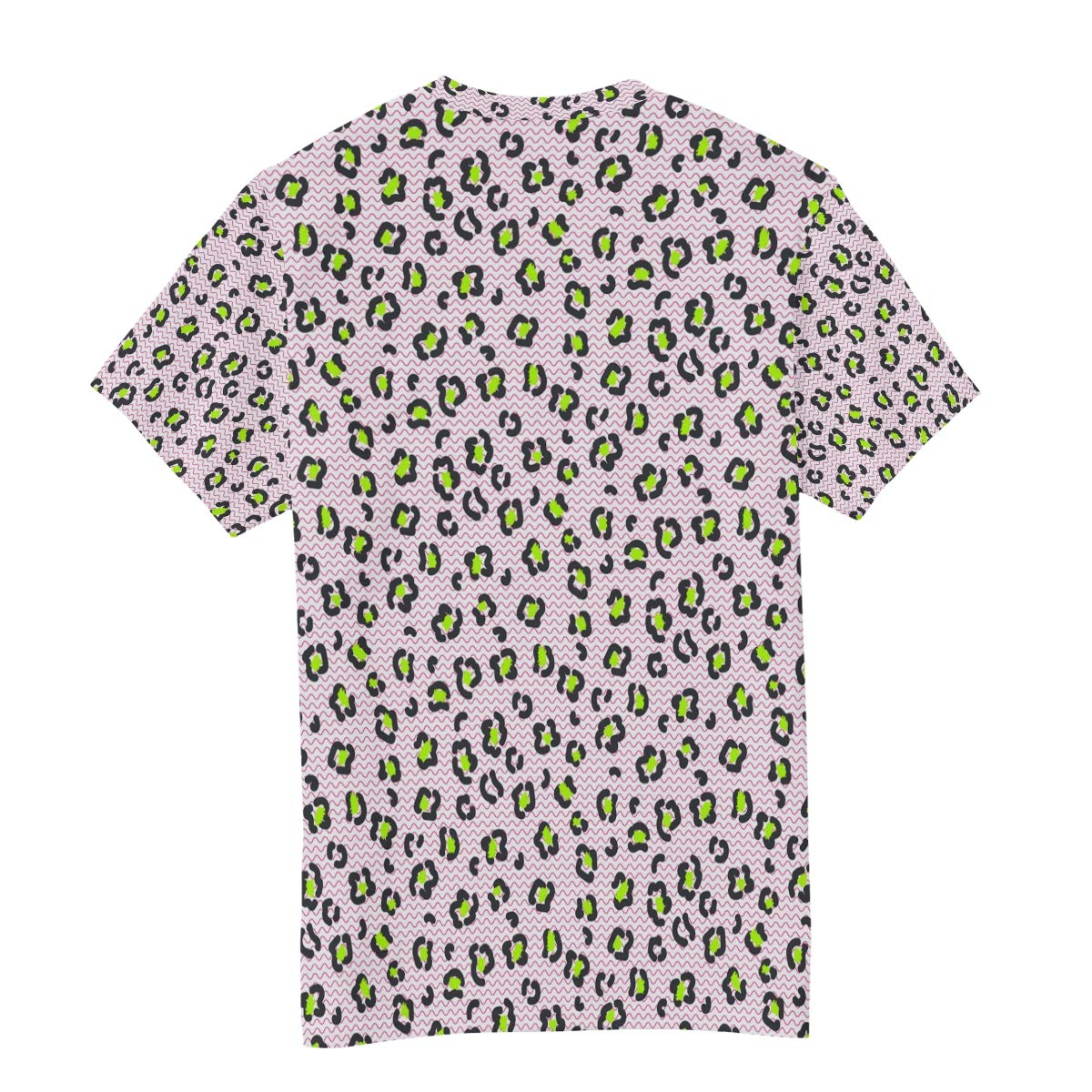 Horatiood Huberyyd Pink Stripe Leopard Print Mens T Shirts Graphic Funny Body Print Short T-Shirt Unisex Pullover Blouse