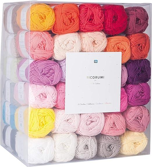 ricorumi 6ß hilos de algodón en 60 COLORES, A 25g: Amazon.es: Hogar