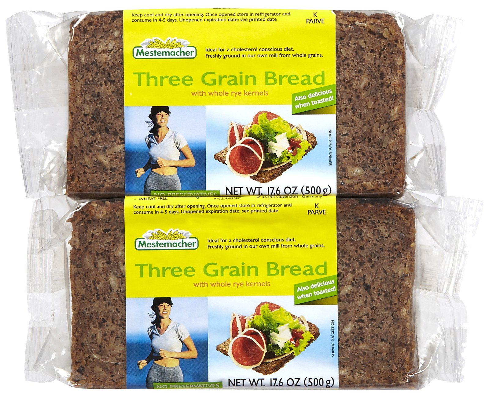Mestemacher Bread Rte 3Grain, 17.6 oz