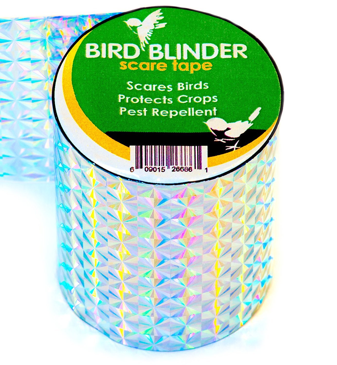 Bird Blinder - The Original Bird Repellent Scare Tape (Diamond) - 147 feet  x 2 inch Deterrent