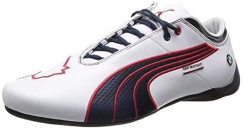 PUMA Men's BMW MS Future Cat M1 Leather Shoe,White/BMW Team Blue/