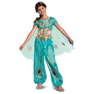 Disney Princess Jasmine Aladdin Classic Girls' Costume, Teal: Toys & Games