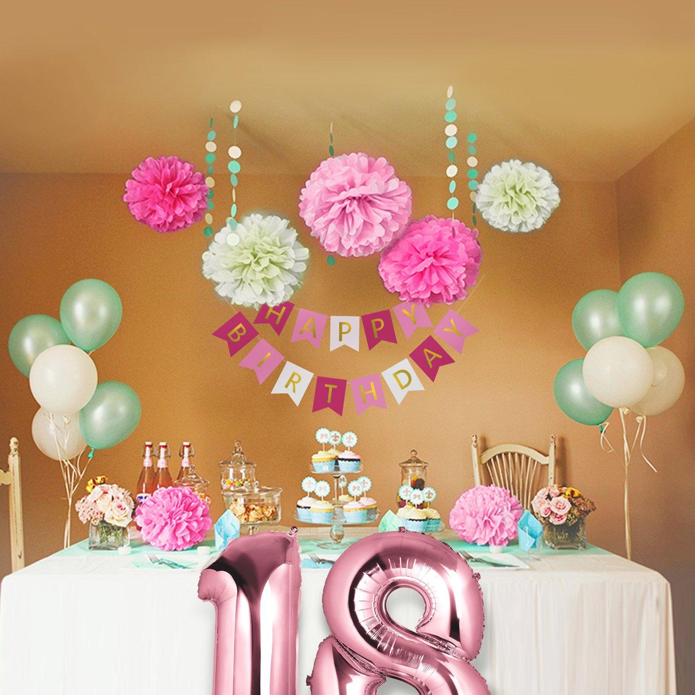 Czemo decoraci n cumplea os 18 a os kit de decoraciones de - Globos fiesta cumpleanos ...