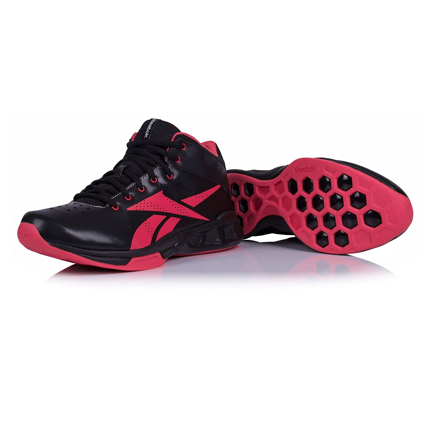 83dcdb3e2824 Reebok Hexride Intensity Women s Mid Training Shoe Black  Amazon.co.uk   Shoes   Bags