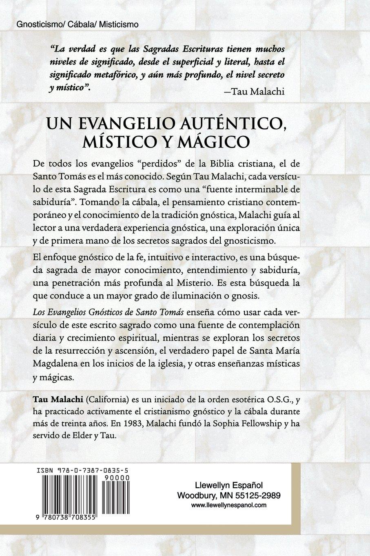 Los Evangelios Gnosticos de Santo Tomas: Ensenanzas y Reflexiones Gnostic Spanish: Amazon.es: Tau Malachi: Libros
