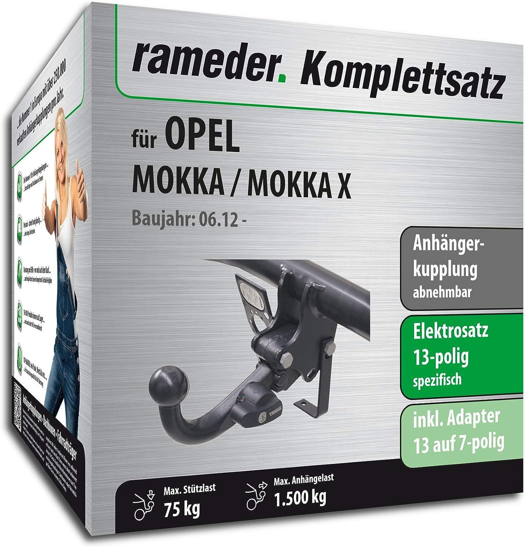 148163-10264-1 Rameder Komplettsatz Anh/ängerkupplung abnehmbar 13pol Elektrik f/ür OPEL Mokka//Mokka X