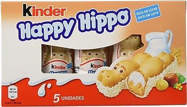 Kinder - Happy Hippo - Barritas de Chocolate - 5 unidades x 20.7 g ...