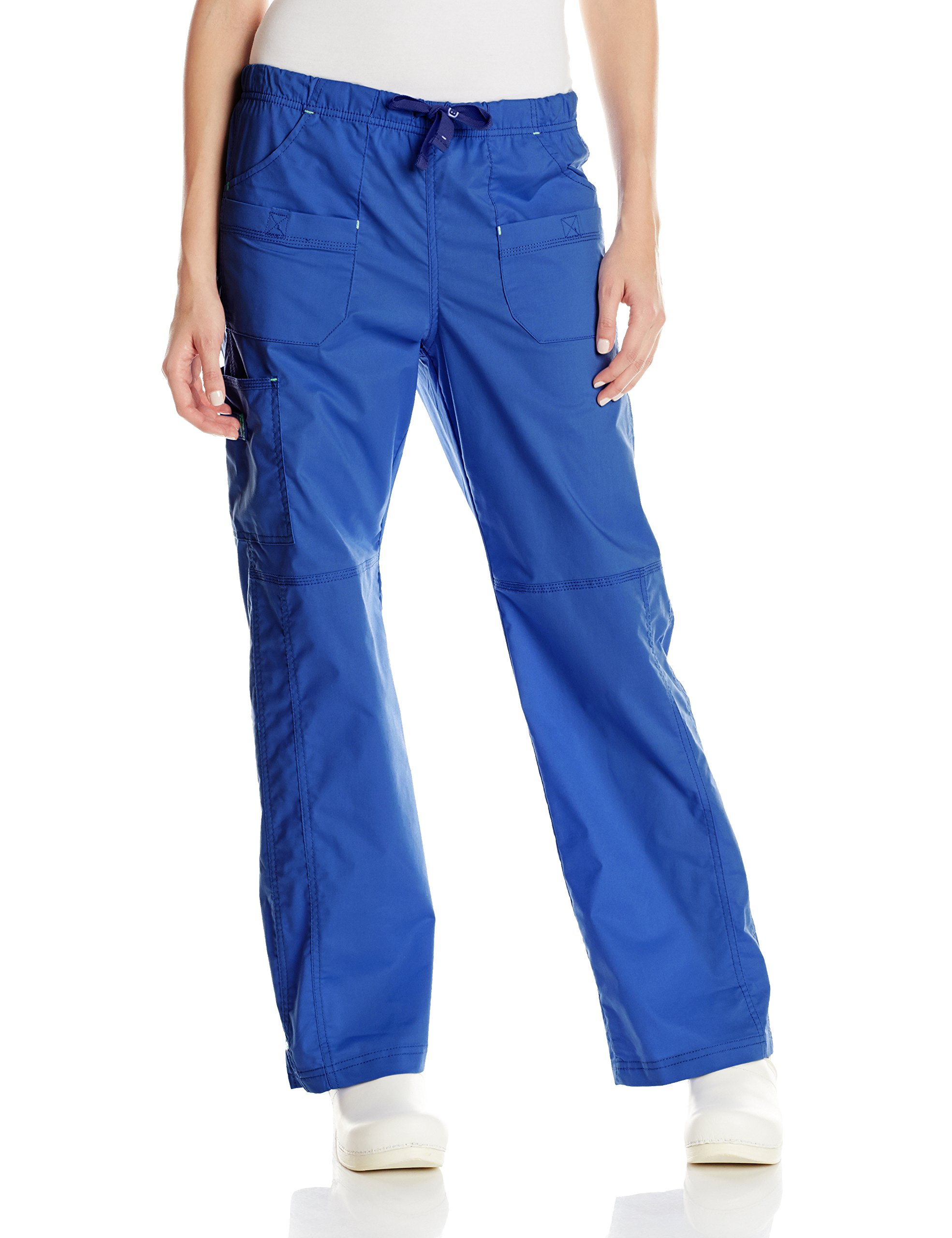 WonderWink Women's Wonderflex Faith Scrub Pant, Royal, 3X-Large Tall