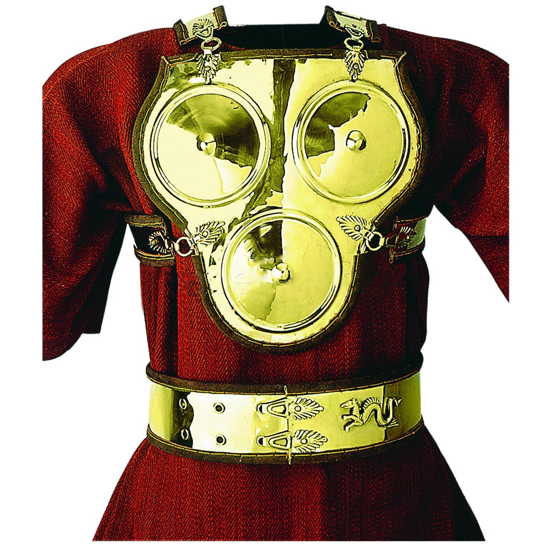 Deepeeka AH6088B Brass Three Disc Armour and Belt - Medieval Costume