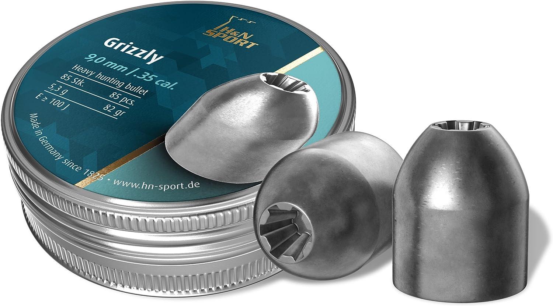 H&N Grizzly 9,00 mm Diabolo/Balines - Munición para Arma de aire comprimido
