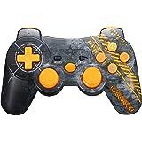 Warfare Manette PS3 Sans Fil, Warfare Personnalisé Manette de Jeu Sans Fil avec Double Vibration 6 Axes(Sixaxis) Pour Sony PlayStation 3 - Warfare Edition