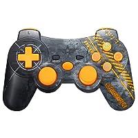 Warfare Controller Wireless Bluetooth Joystick per PS3 Giochi, Doppia Vibrazione Sixaxis Joypad Gamepad per Sony PS3 PlayStation 3 - Warfare Edition (Giallo)