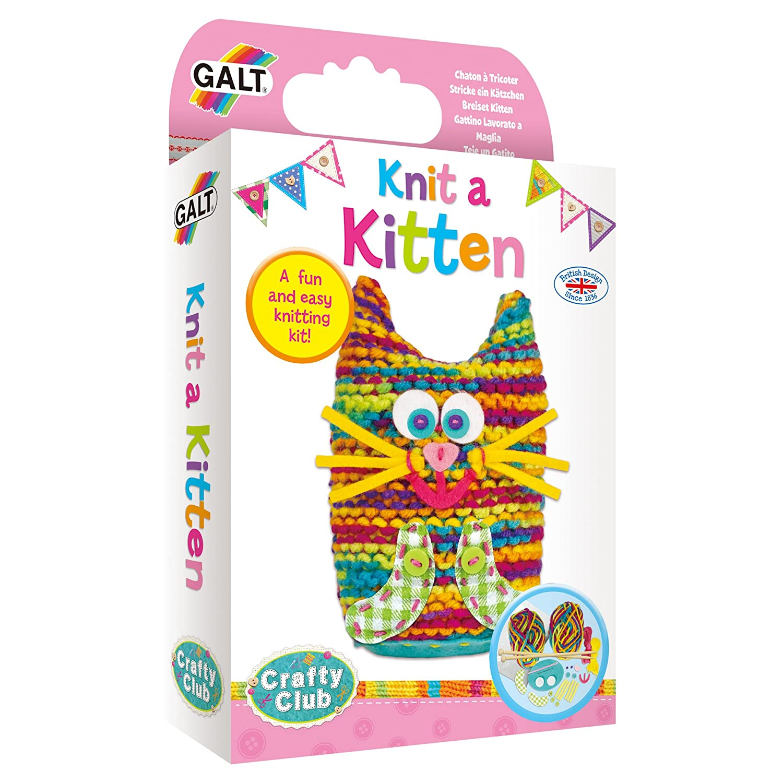 Craft Kits for Children Galt Toys  Knit A Kitten Knitting Kit