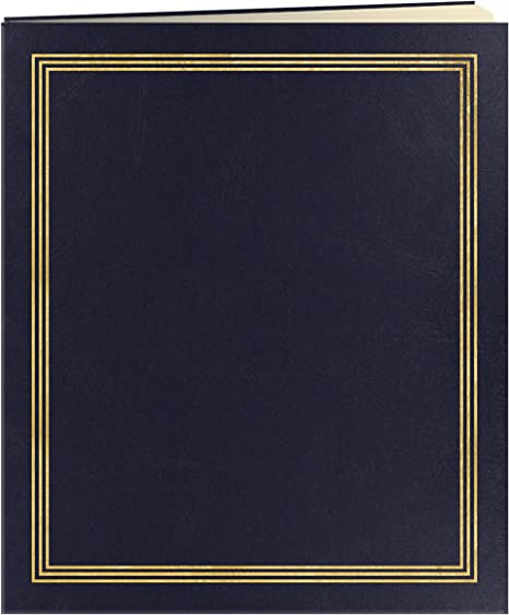 Pioneer Jumbo 11.75X14 Beige Page Scrapbook 100 Pages Navy Blue 50 Sheets