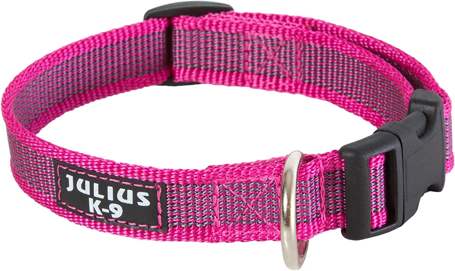 Julius-K9 Collar Color & Gray, 25 mm (39-65 cm), Rosado-Gris ...