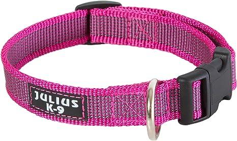 Julius-K9 - Collar para perro, Rosa (Pink/Gray), 25mm*39-65 cm ...