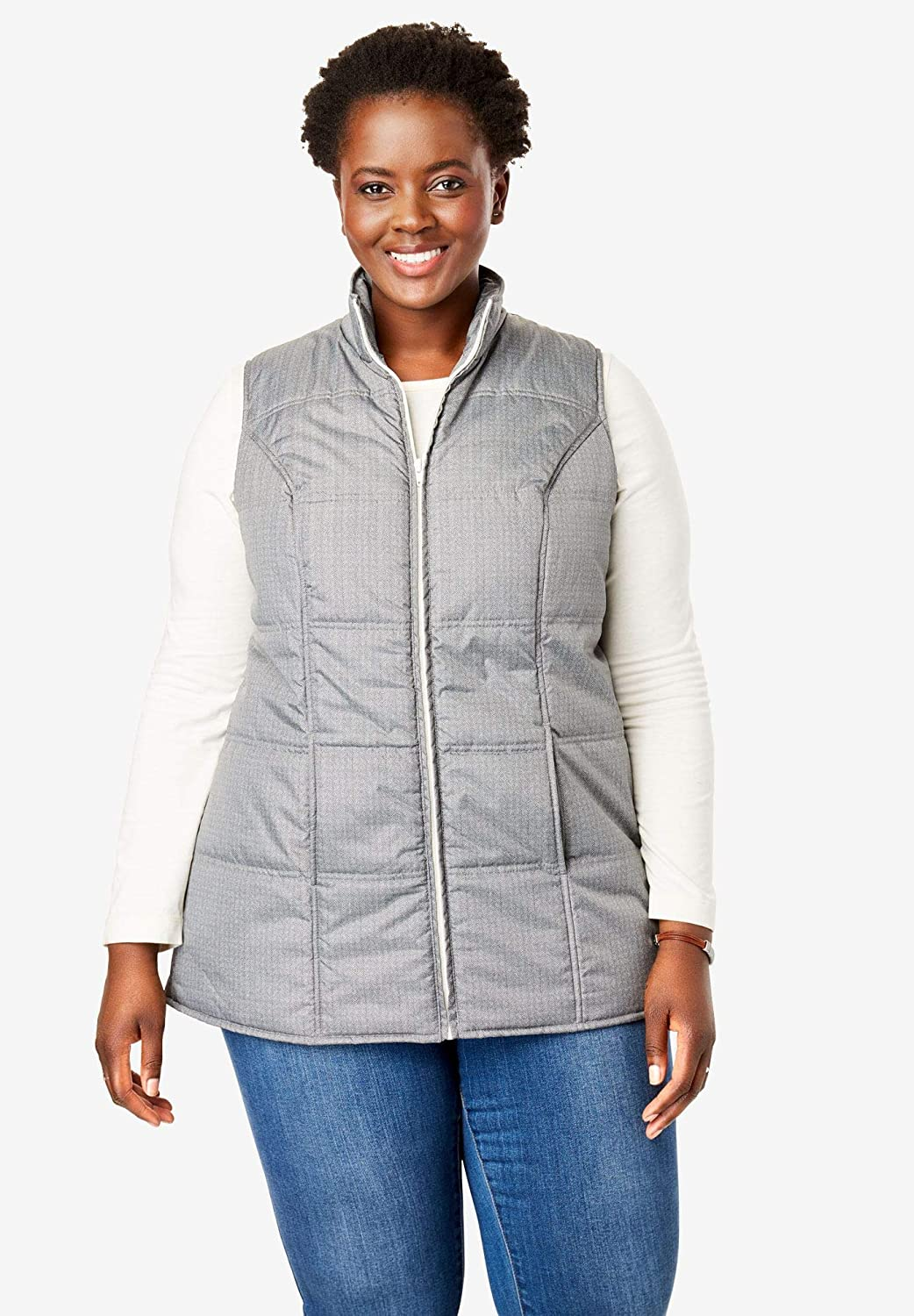 Woman Within Plus Size Quilted Vest