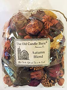 Old Candle Barn Autumn Blend Large 8 Cup Bag - Perfect Fall Decoration or Bowl Filler - Beautiful Autumn Scent