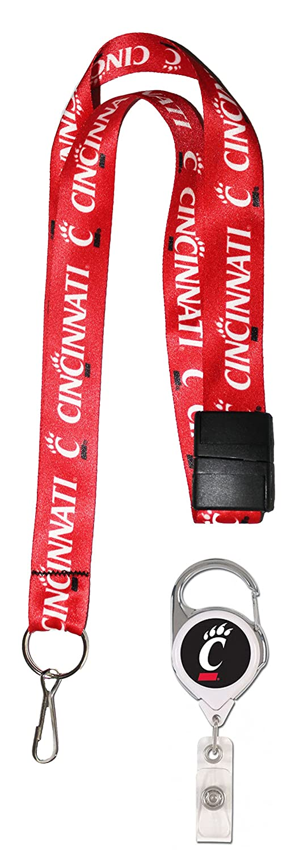 Cincinnati Bearcats Premium Badge Reel Id Holder and Lanyard Gift Set