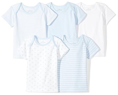 e6c6f78ec Amazon.com: Moon and Back Baby Set of 5 Organic Crewneck Short-Sleeve  Shirts: Clothing