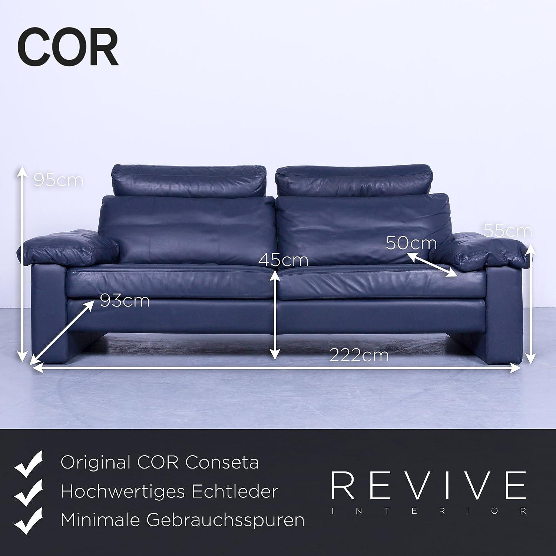 Bezaubernd Couch Echtleder Sammlung Von Conceptreview: Cor Conseta Designer Sofa Blau Leder