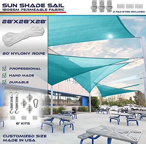 Windscreen4less 28' x 28' x 28' Equilateral Triangle Sun Shade Sail