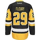 Marc-Andre Fleury Pittsburgh Penguins Black Reebok Premier Jersey